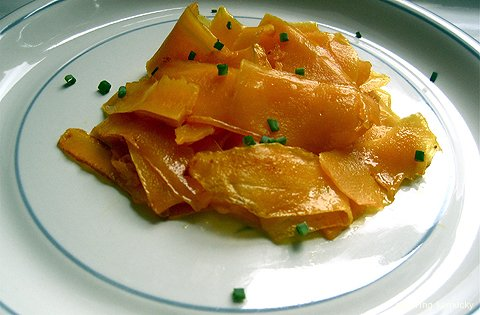 Butternut Squash Ribbons with Chives