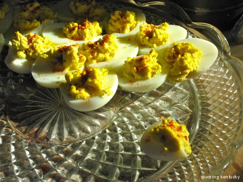 Campsie Deviled Eggs, Elmwood Organic Eggs