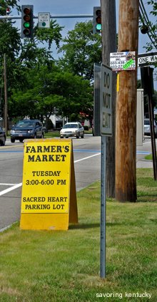 Seacoast Growers Farmers Market sign, Hampton, NH