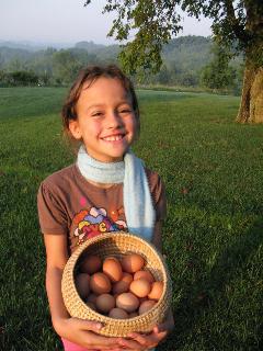 Stella, age 7, Egg Entrepreneur