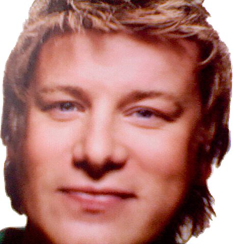 Jamie Oliver, partial cutout from book cover