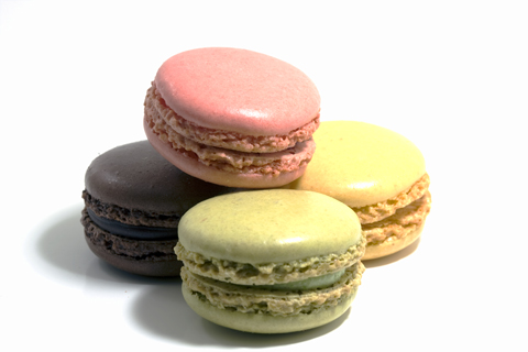 Macarons, exquisite French almond pastries