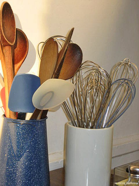 Spoons and Whisks in Blue