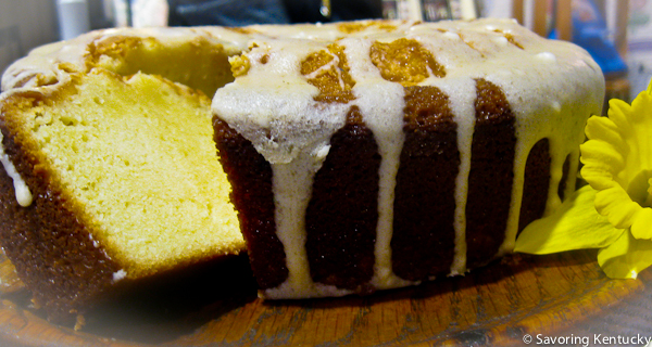 Barbara's Sweet Cream Poundcake with Bourbon Vanilla Sauce
