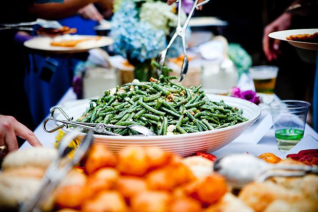 Kentucky green bean-walnut salad, at Amy Hille and Will Glasscock's splendid Kentucky wedding feast