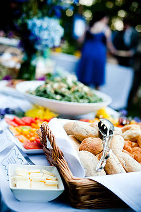 Beautiful Kentucky wedding food