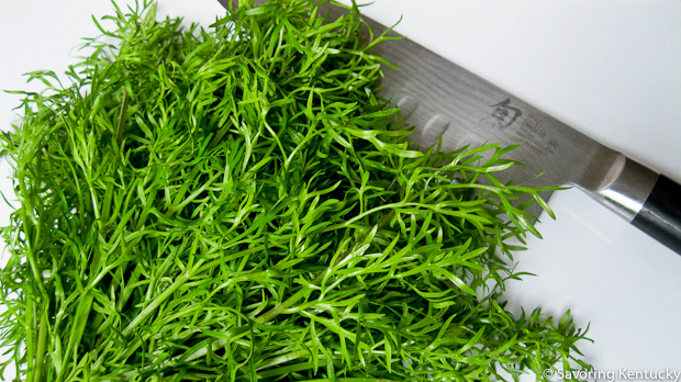 Delfino, a finely cut cilantro