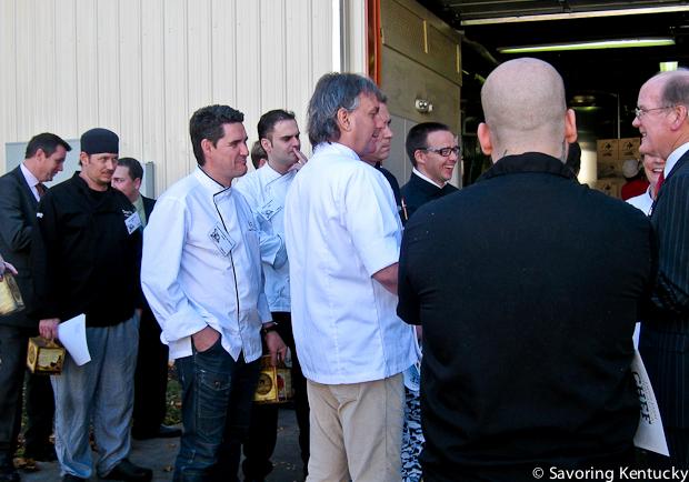 International chefs at Alltech brewery