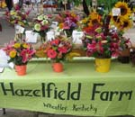 Hazelfield table with flowers