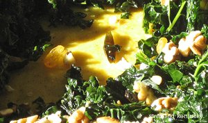 Polenta with Garlicky Greens