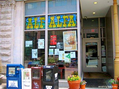 Alfalfa Restaurant's Main Street face, Lexington, Kentucky