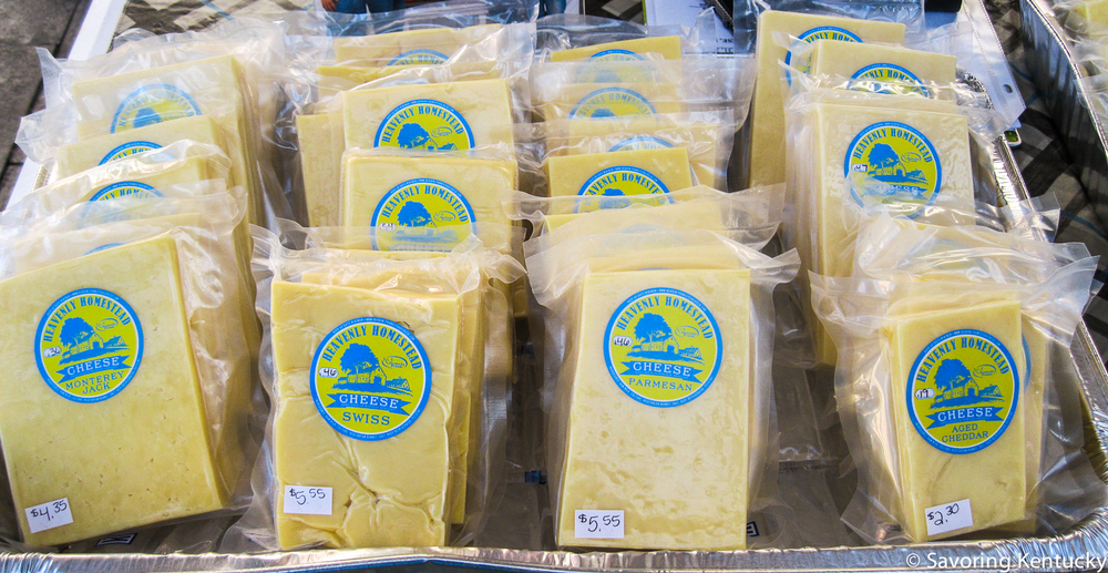 Terry Huff's delicious  Heavenly Homestead  cheeses have been available at Good Foods Market for some time. Now they join the other great cheeses at the Market. Heavenly Homestead is on the edge of Pulaski and Russell Counties.
