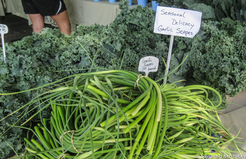 Hazelfield Farms' garlic scapes