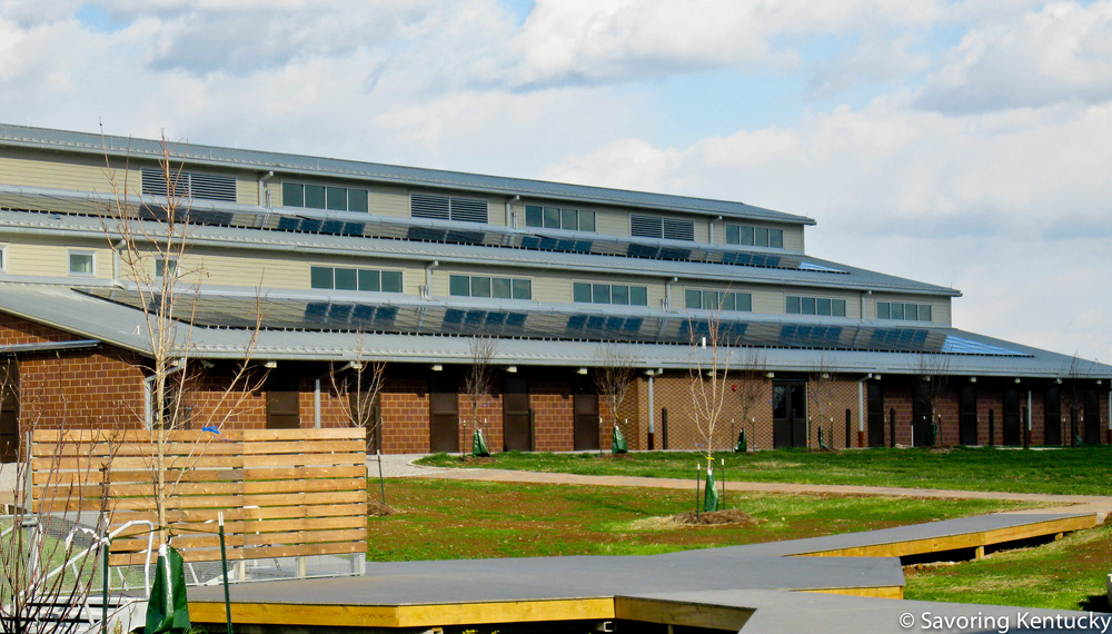One of several net zero buildings at Locust Trace Agriscience Farm, Lexington, Kentucky