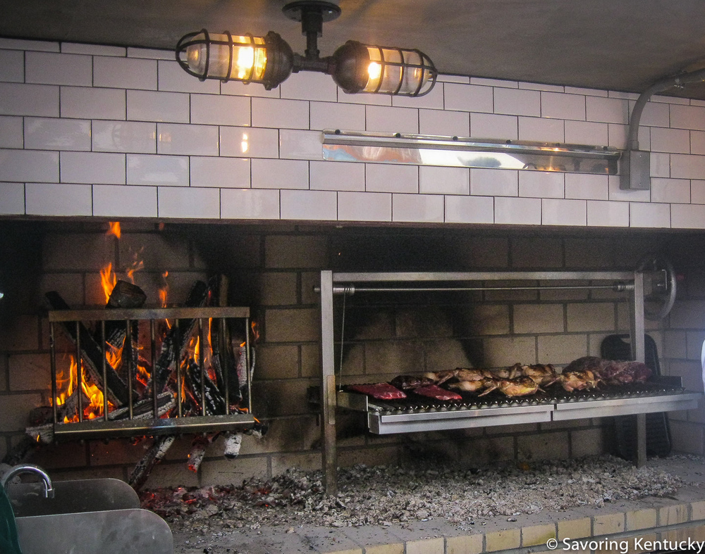 Outdoor kitchen; plenty of fire