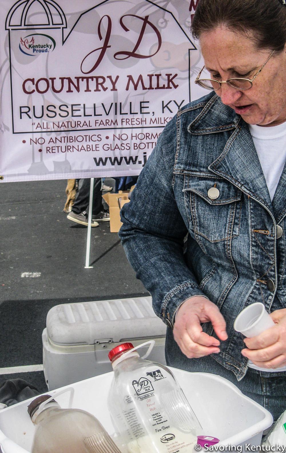 JD Country Milk at the Kentucky Green Living Fair, 2014