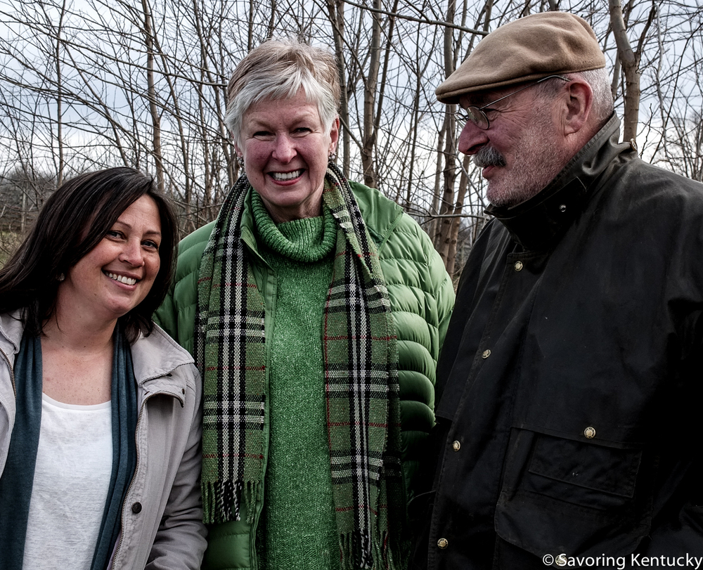 From left, Woodland Farm horticulturist, Lois Mateus and Tim Peters, Tallgrass Farm Foundation