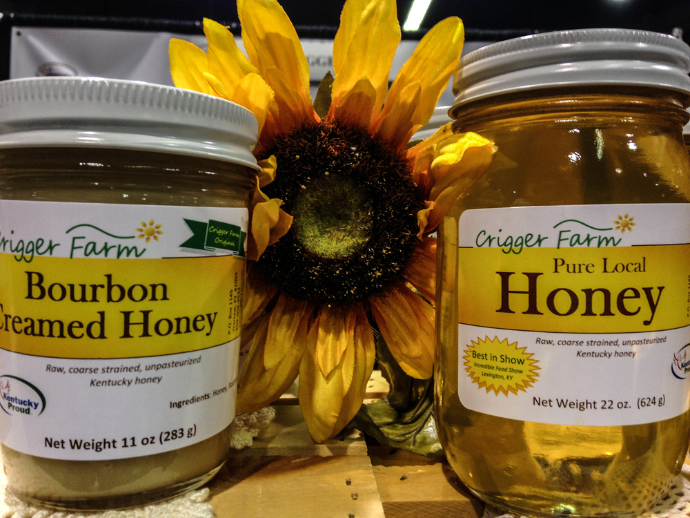"Crigger Farm's motto: ""Your local source for all things honey."""