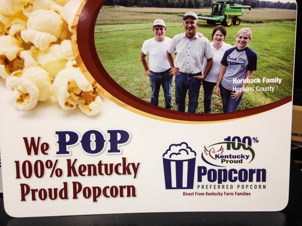 We Pop Kentucky Proud popcorn, grown in Western Kentucky.