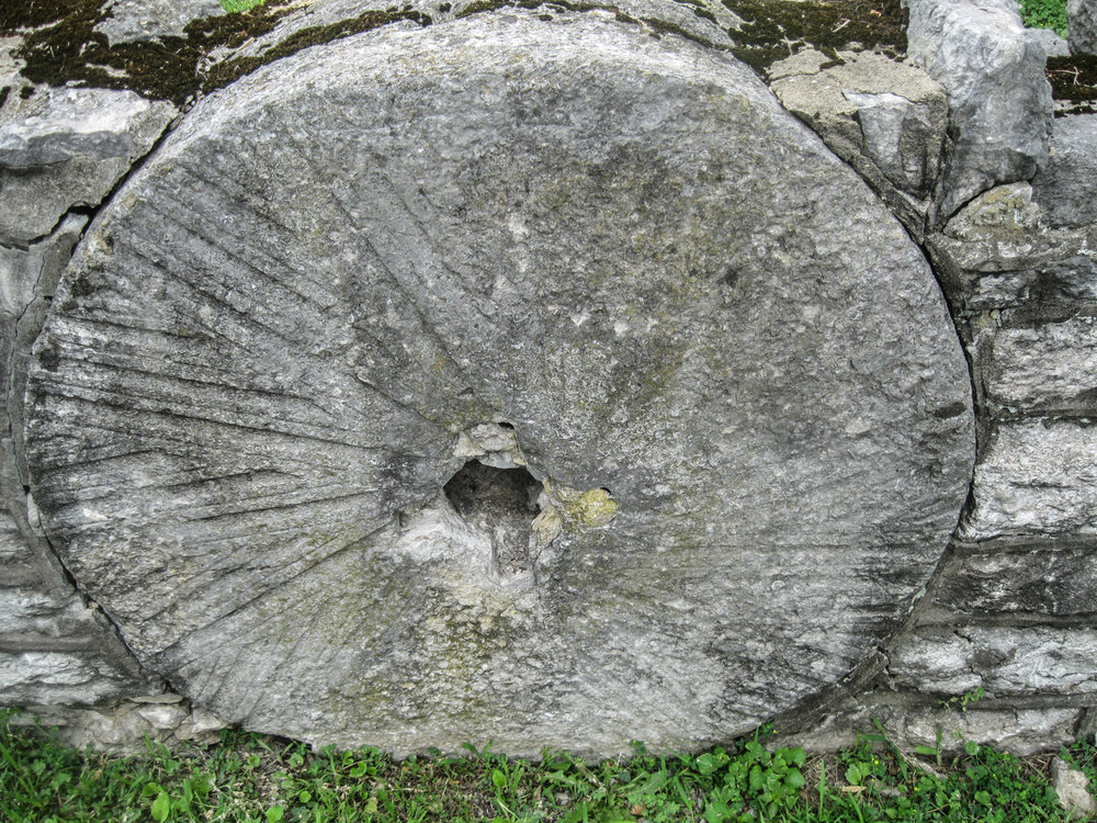 One of many millstones near Weisenberger Mill, Scott County, Kentucky