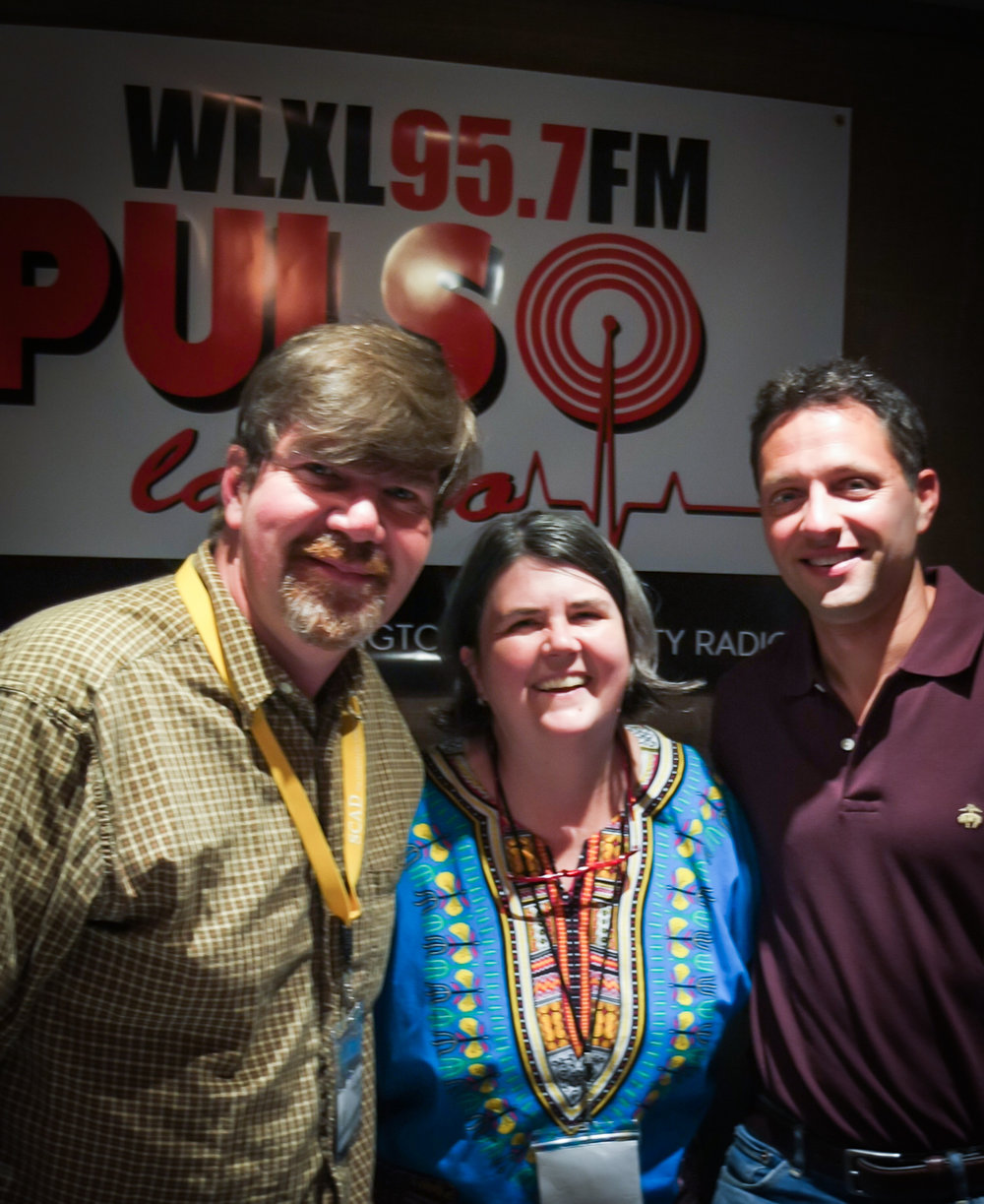 From left, Chris Michel, Ouita Michel, Brian Luftman