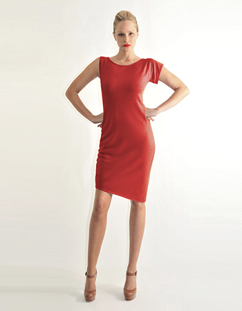 Asymmetric shoulder dress, red, black, navy, camel..jpg