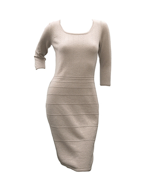 dress with lacy tops, camel, lilac.jpg