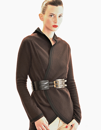 Round seam stripe jacket, charcoal grey and chocolate brown.jpg