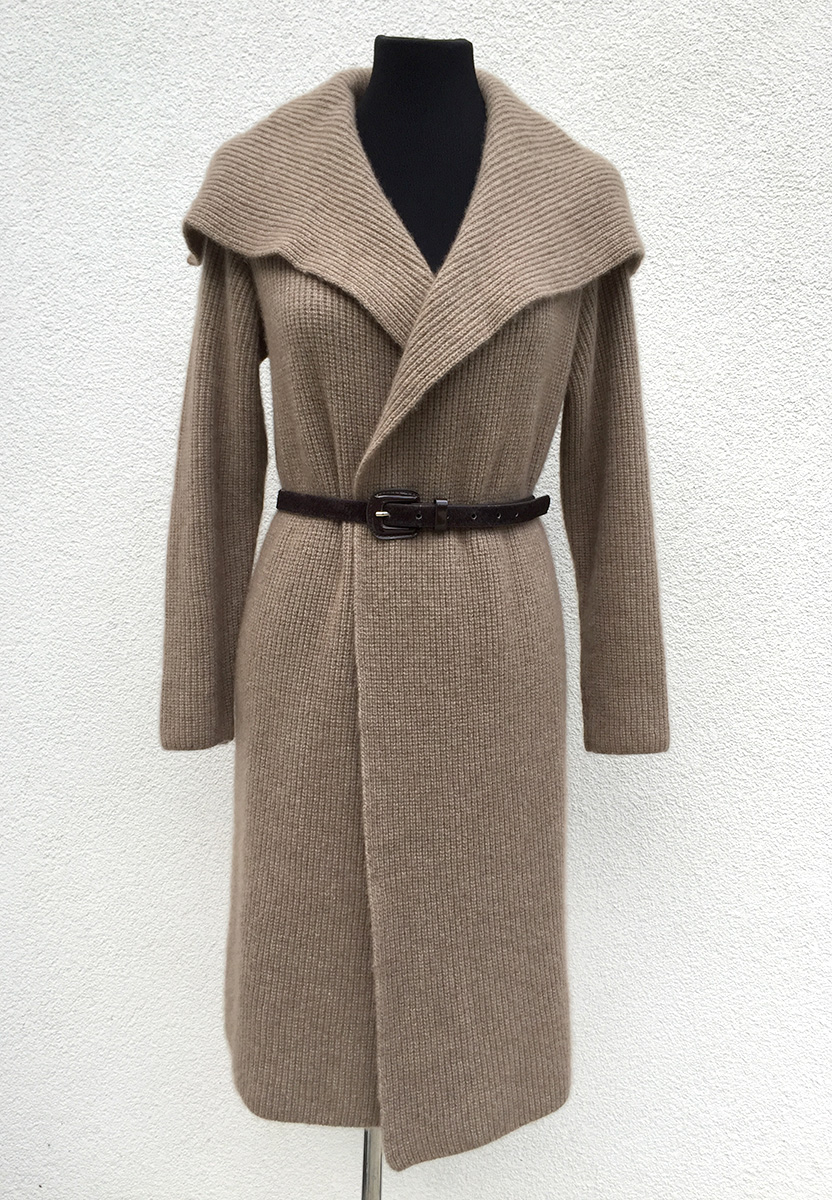 Thick cashmere straight knitted open coat-2.jpg