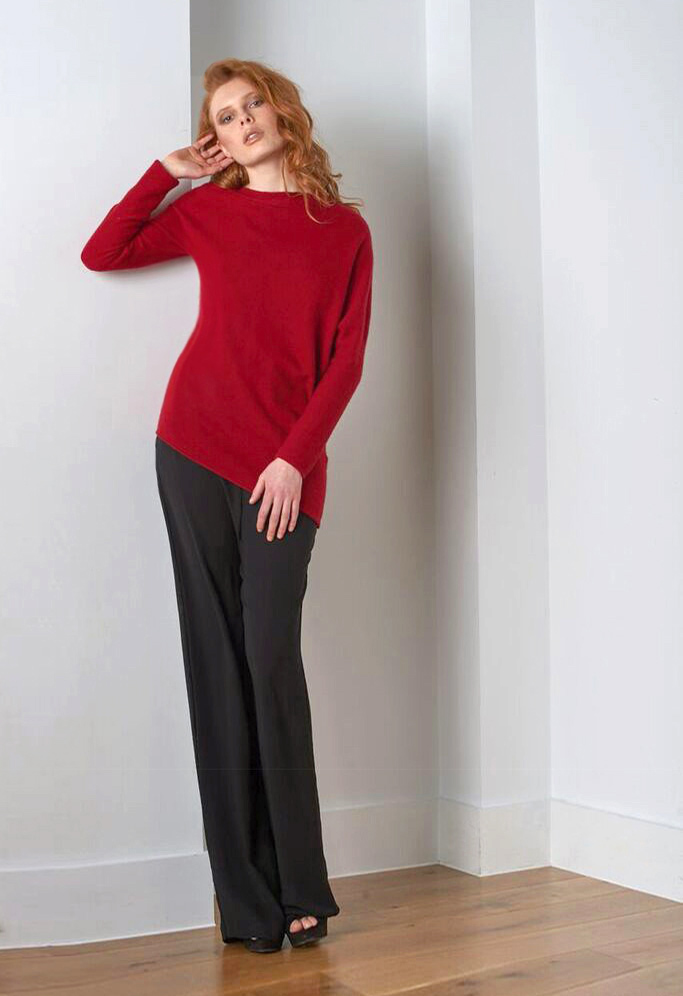 SEMON cashmere asymmetric top red.jpg