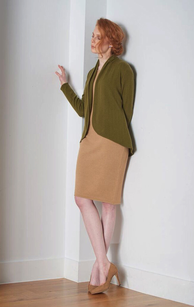 SEMON Cashmere lacy cardigan olive green.jpg