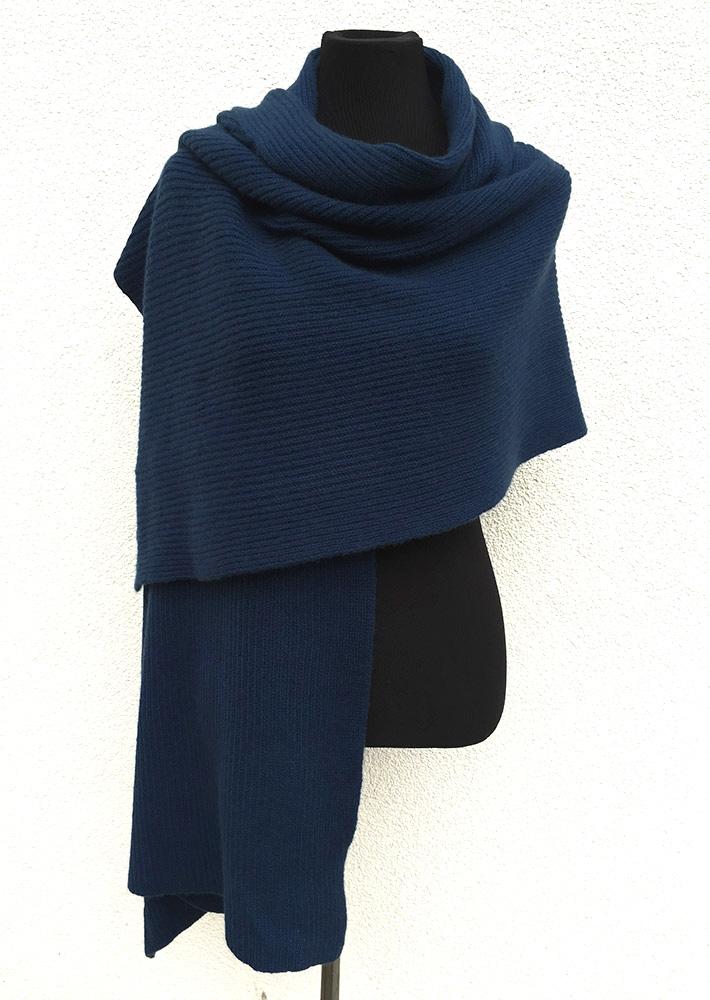 SEMON Cashmere Chunky wrap shawl mid blue.jpg