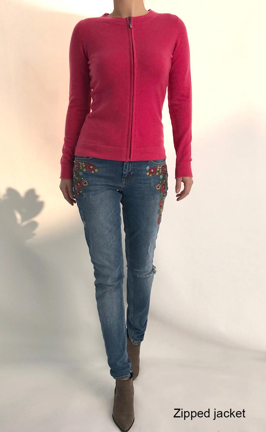 SEMON Cashmere zipped jacket in rose pink.jpg