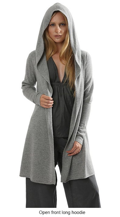 SEMON Cashmere Open front long hoodie grey.jpg