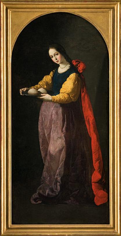 Francisco de  Zurbar á n,  Saint Agatha , 1630-1633