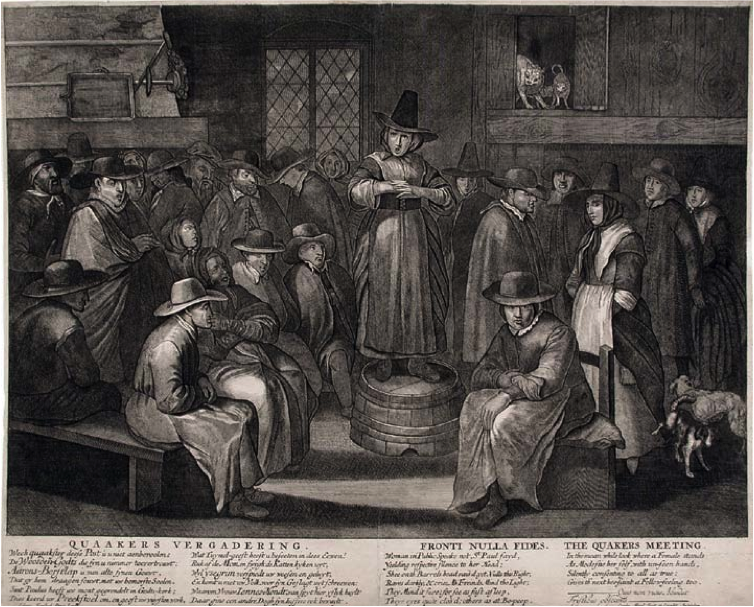"An engraving of a Quaker meeting from Colonial America                                   Normal     0                     false     false     false         EN-US     JA     AR-SA                                                                                                                                                                                                                                                                                                                                                                                                                                                                                                                                                                                                                                                                                                               /* Style Definitions */ table.MsoNormalTable 	{mso-style-name:""Table Normal""; 	mso-tstyle-rowband-size:0; 	mso-tstyle-colband-size:0; 	mso-style-noshow:yes; 	mso-style-priority:99; 	mso-style-parent:""""; 	mso-padding-alt:0in 5.4pt 0in 5.4pt; 	mso-para-margin:0in; 	mso-para-margin-bottom:.0001pt; 	line-height:150%; 	mso-pagination:widow-orphan; 	font-size:12.0pt; 	font-family:""Times New Roman"";}"