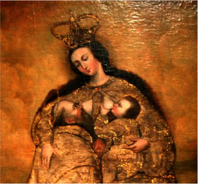 Ignacio Chacón, Lactation of Saint Pedro Nolasco, 1680
