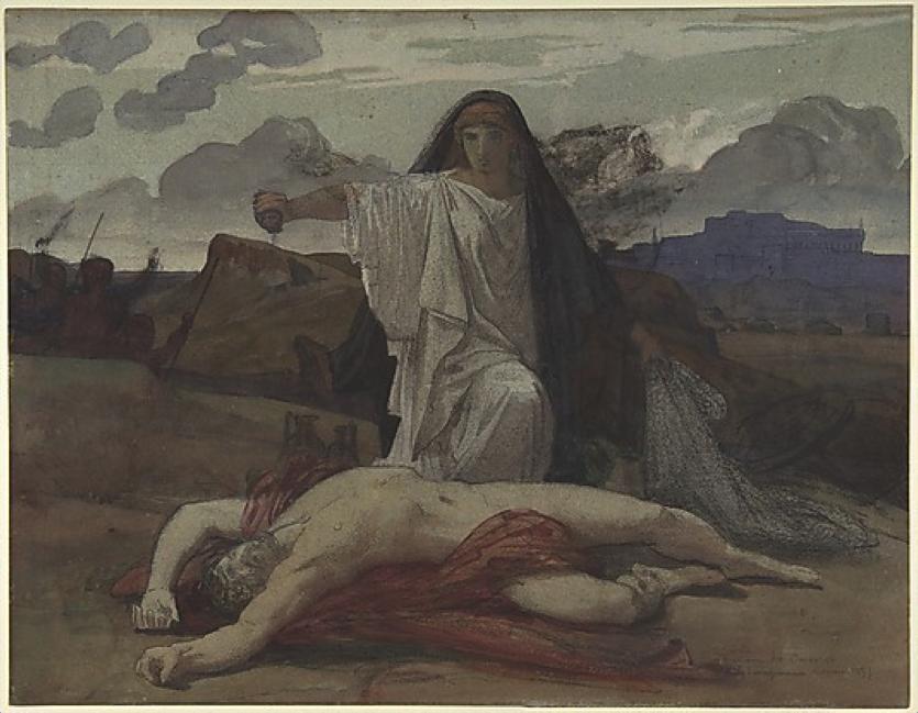 Jules-Eugène Lenepveu ,   Antigone  , ca1840