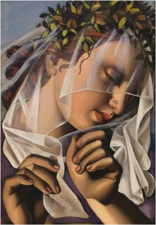 Tamara de Lempicka,  The Flower Wreath II  (1932)