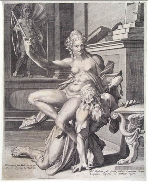 Jan Sadeler,  Aristotle and Phyllis , 1587-1593