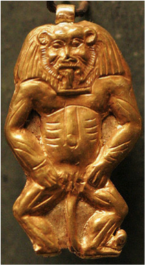 Amulet of the Egyptian god Bes
