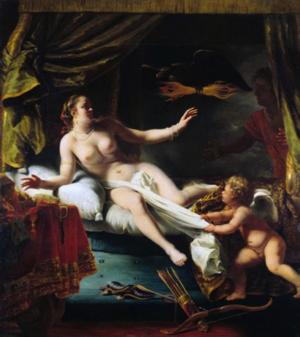 Ferdinand Bol,  Aegina waiting for Zeus  , ca 1650