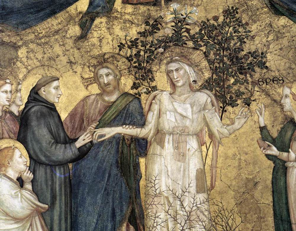 "Giotto di Bondone.  The marriage of St. Francis and Lady Poverty , Basilica of St. Francis in Assisi, Italy.     Normal   0           false   false   false     EN-GB   X-NONE   X-NONE                                                                                                                                                                                                                                                                                                                                                                    /* Style Definitions */  table.MsoNormalTable 	{mso-style-name:""Table Normal""; 	mso-tstyle-rowband-size:0; 	mso-tstyle-colband-size:0; 	mso-style-noshow:yes; 	mso-style-priority:99; 	mso-style-parent:""""; 	mso-padding-alt:0cm 5.4pt 0cm 5.4pt; 	mso-para-margin:0cm; 	mso-para-margin-bottom:.0001pt; 	mso-pagination:widow-orphan; 	font-size:10.0pt; 	font-family:""Times New Roman"",""serif"";}"
