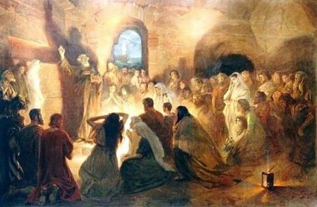 Peter Preaching in the Catacombs, by Jan Styka