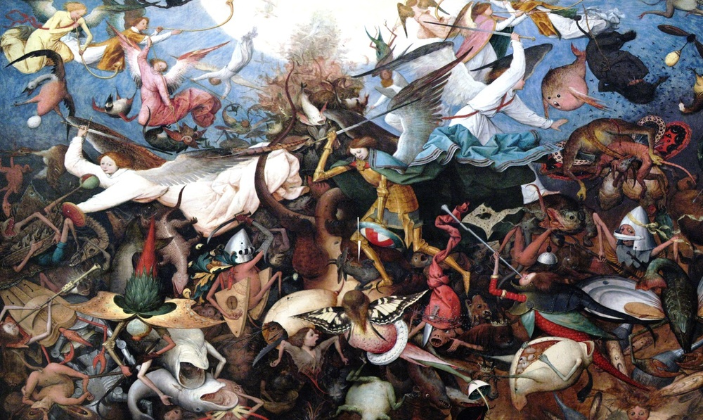 - Pieter Brueghel the Elder,  Fall of the Rebel Angels  (1562)