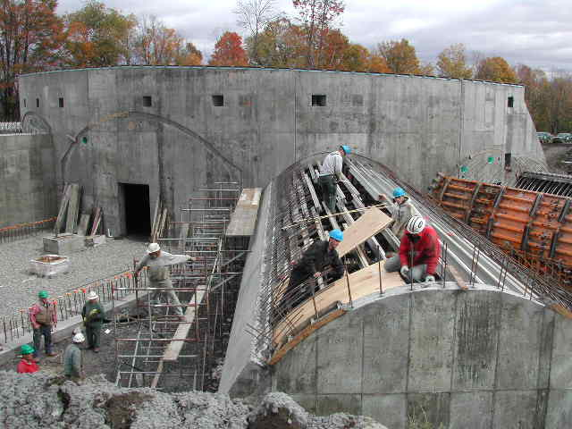 Then each vault was poured - one section at a time.