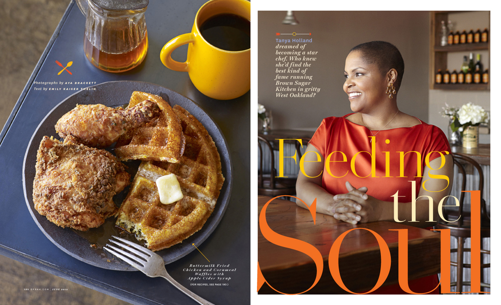 Feature spread for O, the Oprah Magazine.