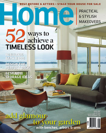 Cover for Home Magazine.