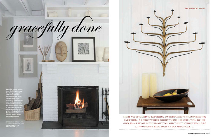 Feature spread for Home Magazine.