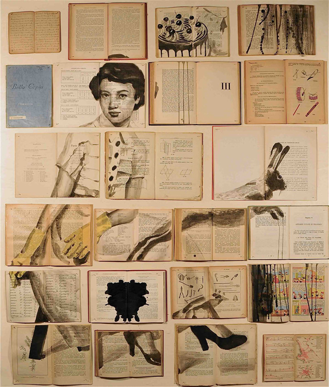 Panikanova's work strikes the perfect balance between painting, collage, and installation art.